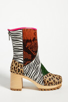 Thumbnail for your product : Swedish Hasbeens Patchwork Heeled Clog Boots By in Assorted Size 41