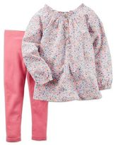Carter's 2-Piece Smocked Floral Tunic and Legging Set