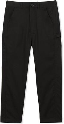 BURBERRY KIDS Logo Detail Twill Trousers