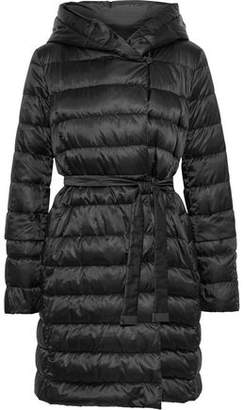 Max Mara Novef Reversible Quilted Shell Hooded Down Coat