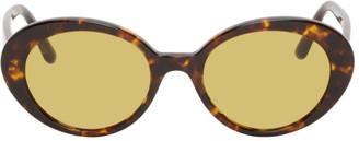 The Row Tortoiseshell Parquet Sunglasses