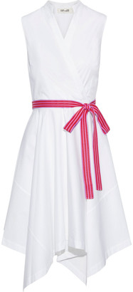 Diane von Furstenberg Marlene Wrap-effect Cotton-blend Poplin Dress