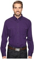 Roper 0709 Black Fill Poplin - Purple Button