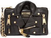Moschino Embellished Leather Clutch