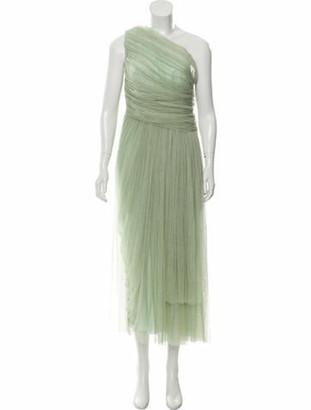 Maria Lucia Hohan Asymmetrical Maxi Dress Mint