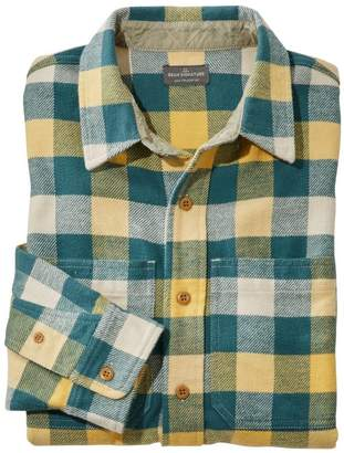 L.L. Bean L.L.Bean Men's Signature Washed Twill Shirt, Long-Sleeve