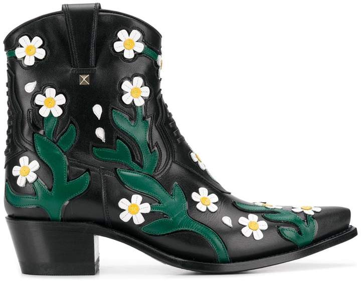 Valentino Ranch Flowers cowboy boots
