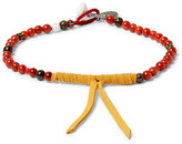 Mikia Coral and Suede Bracelet