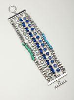 Stein & Blye Multi Row Jewel Chain Bracelet