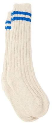 The Elder Statesman Yosemite Striped Cashmere Socks - Womens - White
