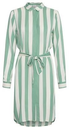 Ichi Caterina Dress Stripes Green - L
