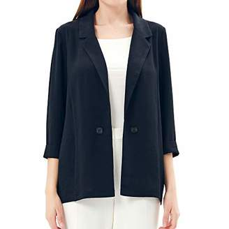 Charis Allure Women's Casual Blazer with Rolled up Sleeve M