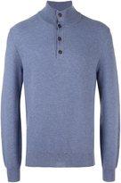 Brioni button detail polo shirt