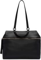 Kara Black Leather Satchel