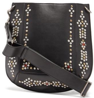 Isabel Marant Oskan Studded Leather Cross-body Bag - Womens - Black