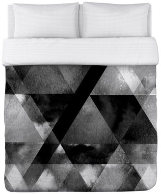 One Bella Casa Dark And Stormy, Black Lightweight King Duvet Cover