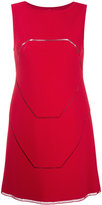 Alaia geometric detail mini dress