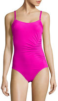 Calvin Klein Side Ruched One-Piece Swimsuit