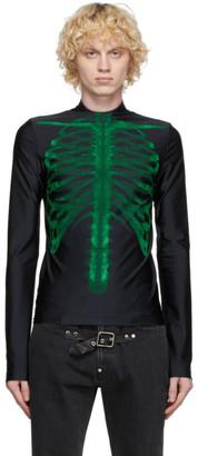 Sankuanz Black Skeleton Long Sleeve T-Shirt