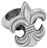 India Handicrafts Elegant Fleur de Lis Napkin Rings Set of 4