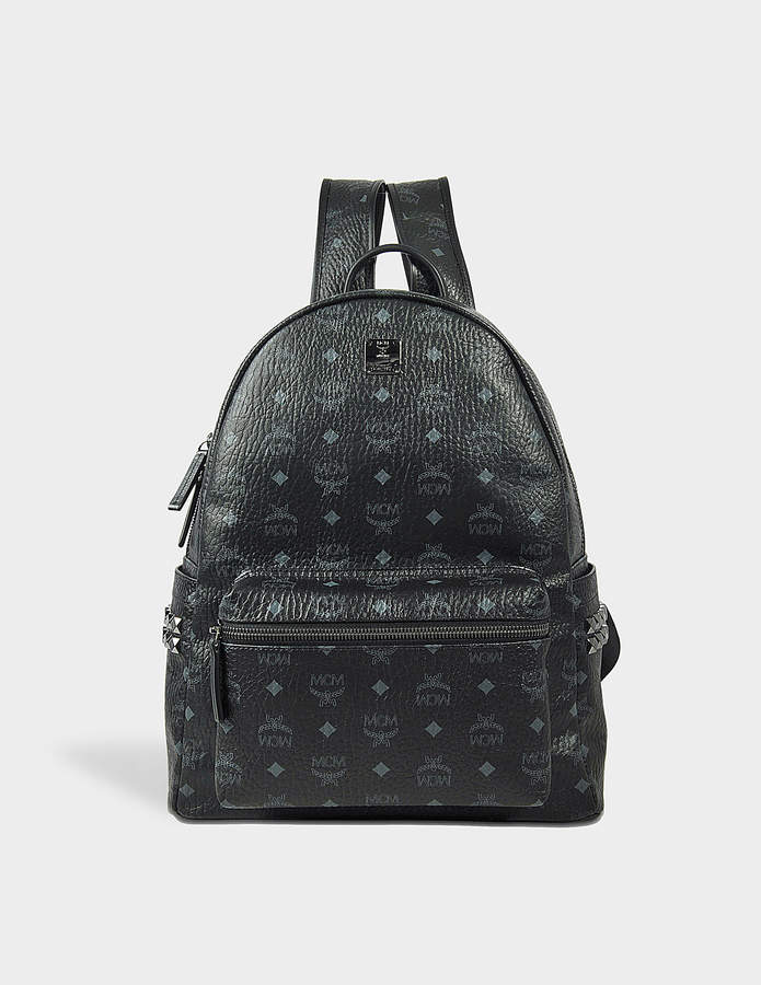 MCM Stark Side Studs Medium Backpack in Black Visetos