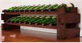 Wine Rack 20 2 Layers of 10 Bottle Width Finish: Matte Stain