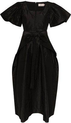 Preen by Thornton Bregazzi Jayda puff-sleeve midi dress