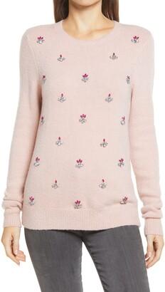 Halogen Embellished Front Sweater