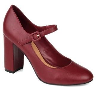 Brinley Co. Womens Block Heel Mary Jane Pump