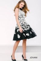 Jovani Floral Embellished Short Dress 41953