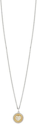Bony Levy Two-Tone 18K Gold Diamond Heart Pendant Necklace - 0.13 ctw