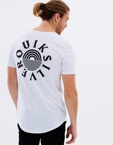 Quiksilver Mens East Rising Dogs Scallop T Shirt