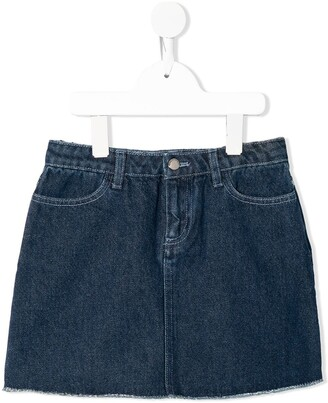 Emporio Armani Kids Applique Patch Denim Mini Skirt