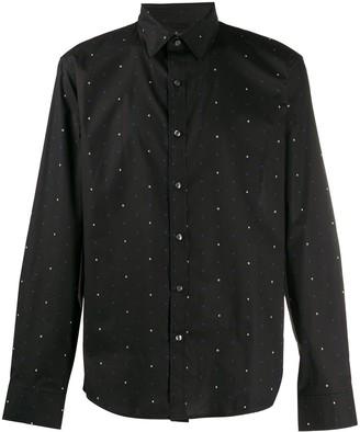 Michael Kors Letter-Print Slim-Fit Shirt
