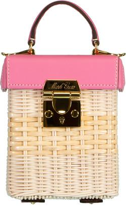 Mark Cross Flamingo Grace Cube Rattan Bag
