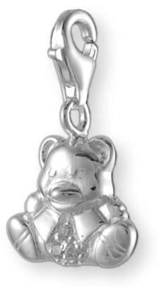 "Melina Charms Pendant""Teddy Bear Silver 925 Cubic Zirconia"