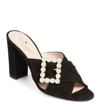 Kate Spade iman suede block heel sandal