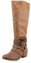Not Rated Uzumo Women Round Toe Synthetic Tan Knee High Boot.