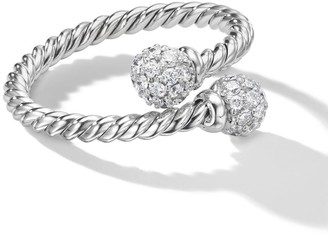 David Yurman 18kt white gold Solari Bypass diamond ring