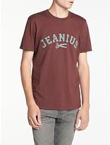 Denham Jeanius T-shirt, Burnt Red