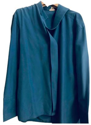 Hermes Blue Silk Tops
