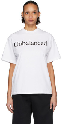 Aries White New Balance Edition Unbalanced T-Shirt