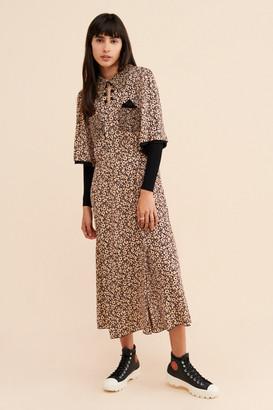 Anna Sui Daisy Delights Midi Dress