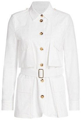 Max Mara Orfeo Belted Cotton Safari Shirt