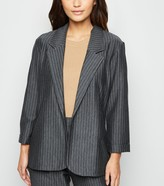New Look Petite Pinstripe Long Jersey Blazer