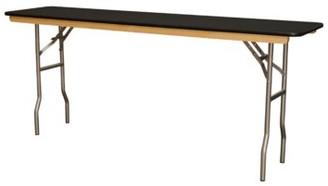 "PRE Sales WFT Series Wood Rectangular Folding Table Size: 30"" H x 72"" W x 18"" D"