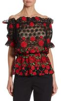 Naeem Khan Off-The-Shoulder Blouse