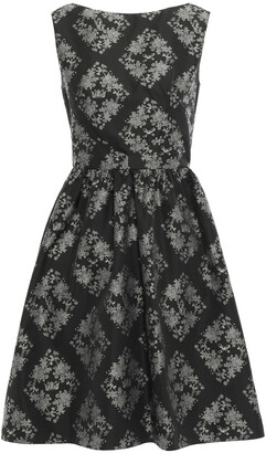 Erdem Gathered Printed Taffeta Mini Dress