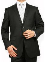 Ferrecci Ferrecci's Men's Black 2 Button Slim Suit