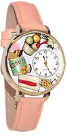 Whimsical Watches Women's G0310014 Unisex Gold Dessert Lover Pink Leather And Goldtone Watch